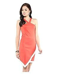 Yepme Charlotte Bodycon Dress - Coral -- YPMDRES0171_S