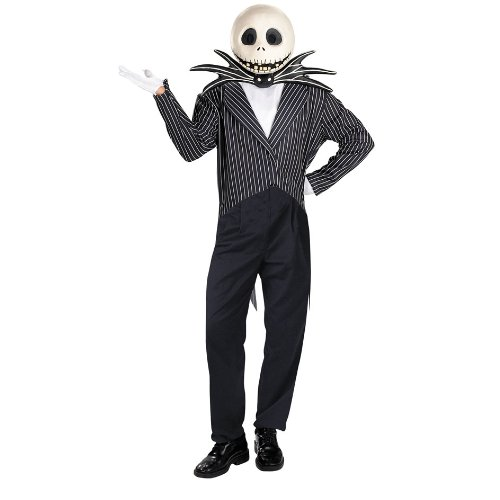 Cartoon Character Jack Skellington Deluxe Costume The Nightmare Before Christmas