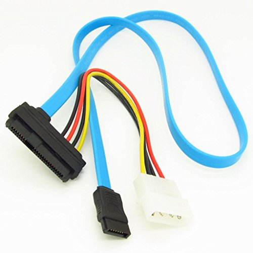 Blue 15+7pin 22 Pin Serial ATA Power Data Cable Cord For 2.5
