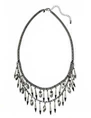 M&S Collection Metal Spike & Diamond Necklace