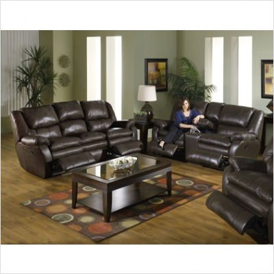 Buy Low Price Catnapper Allegro Dual Reclining Sofa and Loveseat Set Leather: Mushroom (B004366L28)