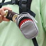 【シャークデジカメケース:グレー】バッグやベルトに簡単装着!小判鮫ケース!
