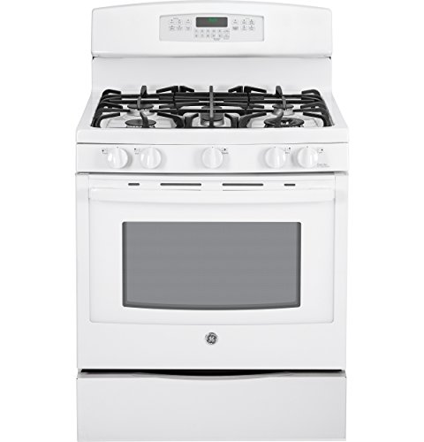 "Ge Pgb920Defww Profile 30"" White Gas Sealed Burner Range - Convection"