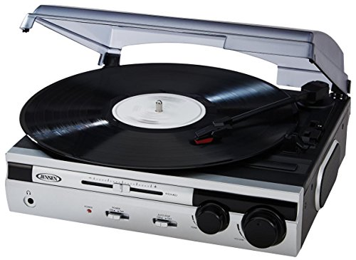 Cheapest Prices! #1 BEST SELLER Jensen Limited Edtion Silver JTA-230S 3 Speed Stereo Turntable with ...
