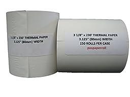 150 rolls- 3 1/8\