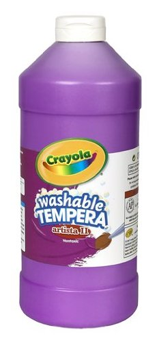 Crayola Tempera Washable Paint 32-Ounce Plastic Squeeze Bottle, Violet/Purple