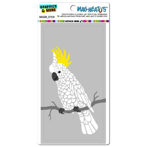 Graphics And More Cockatoo Parrot Bird Mag-Neato'S Automotive Car Refrigerator Locker Vinyl Magnet front-599948