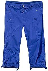 Classic Designs Juniors Plus Size Stretch Poplin Capri Pants (1X-3X)