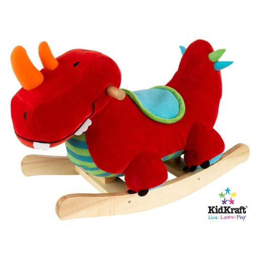 KidKraft Dino Plush Musical Rocker