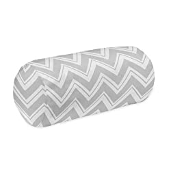 Turquoise and Grey Chevron Zig Zag Collection Decorative Neckroll Bolster Pillow by Sweet Jojo Designs