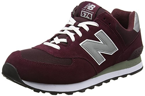 New Balance M574NN - Zapatillas de Material Sintético, Hombre, Rojo (Bordeaux), 42