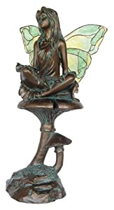 10 Decorative Serenity Fairy with Stained Glass Wings Figurine