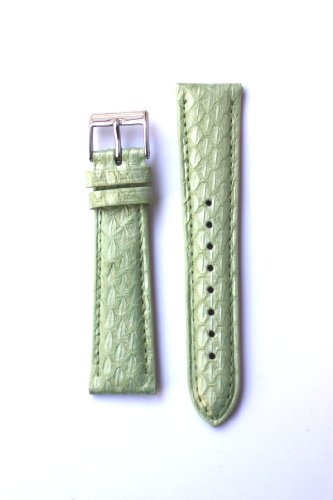 18Mm Apple Green Genuine Snakeskin Watchband From Italy For Michele Style