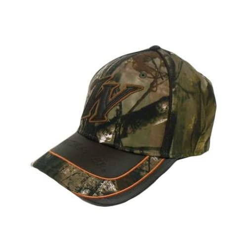 0e6f52d16e2 Winchester Hat Cap Realtree Camo Camouflage Brown Leather Bill Flex Fit  Adult