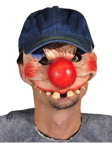 Clowning Around Mask Halloween Costume - Most Adults