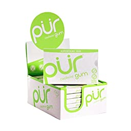 PUR Gum Coolmint Aspartame Free, 9 Piece Packs (12 Packs per Tray)