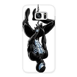 Cute Black Web Multicolor Back Case Cover for Galaxy S7 Edge