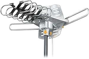 Esky® Remote Control HDTV Outdoor Antenna UHF/VHF 360 Degree Rotation US Version HG-995