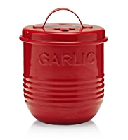 Retro Enamel Garlic Pot