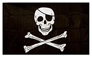 Special offer.....Jolly Roger Pirate Flag (with Patch) 5ft x 3ft