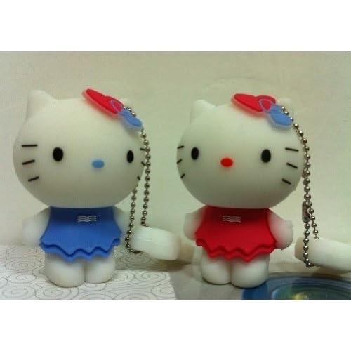 New Style 4GB Cute Blue Hello Kitty USB Flash Drive