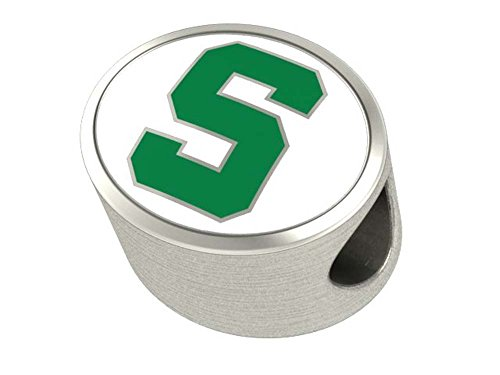 Michigan State University Spartans Charm - Color Enamel Fits Most Beaded Charm Bracelets