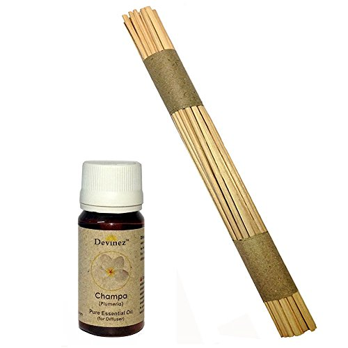 Devinez Premium Reed Sticks/ Refill Pack For Reed Diffusers 10 Inches (100 Sticks) With Free 15ml Champa Oil For...