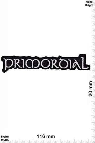 Patch - Primordial - silver - Pagan-Metal - MusicPatch - Rock - Chaleco - toppa - applicazione - Ricamato termo-adesivo - Give Away