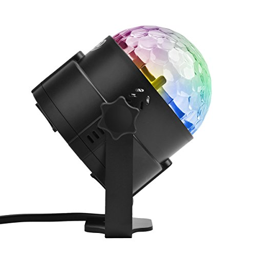 EAAGD DJ Disco Stage Lights - Sound Activated Party Lights Mini RGB LED Crysral Magic Ball Multi Colored Rotating Stage Effect Light Clubs Light for Home Room Dance Parties