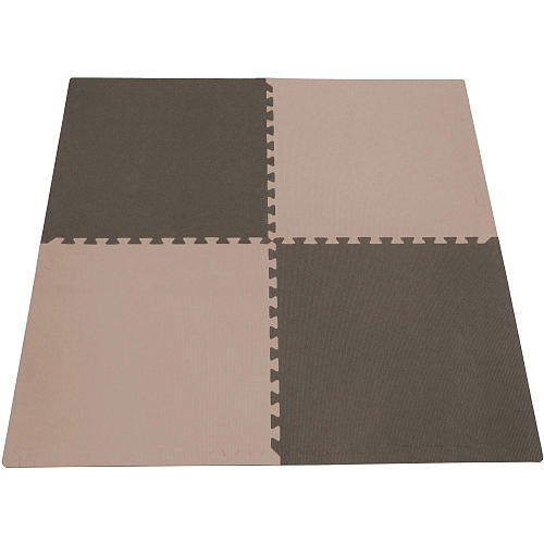 Tadpoles 24 Playmat 4Pc Set Taupe/Brown