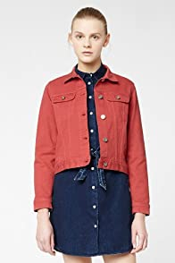 L!VE Long Sleeve Color Denim Jacket