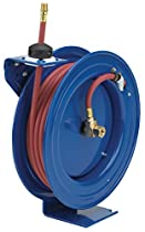 Coxreels Air Hose Reel With Hose - 3/8in. x 50ft. Hose, Max. 300 PSI