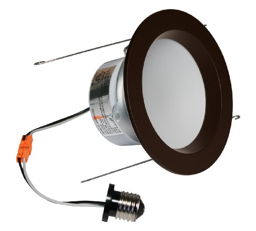 American Lighting Ep5-E26-30-Wh Samsung Led E-Pro Series Recessed Downlight, Dimmable, 9.6-Watts, 700 Lumens, 3000K White, 5-Inch, Dark Bronze
