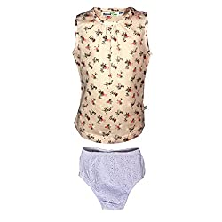 ShopperTree Printed Top With White Embroided Panty(ST-1431_Multi-Coloured_18-24M)
