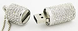 Anyusb093 Fancy Jewellery Studded Round Stick Shape Pen Drive (8 Gb) + Exclusive Hand Made Gift Box