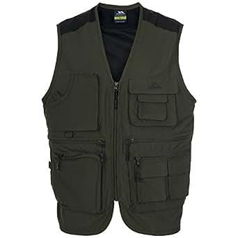 Trespass tackle mens sleeveless fishing vest bodywarmer l for Fishing vest amazon