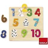 Goula - 53074 - Jouet en Bois - Eveil - Puzzle - Numéros