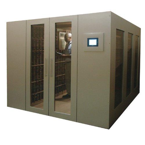 1500-Bottle Metal Walk-In Wine Vault