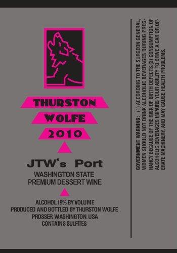 2010 Thurston Wolfe Jtw'S Port 750 Ml
