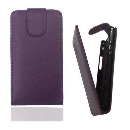 Flip Case Tasche Hülle Etui Handytasche in lila / violett für Samsung Galaxy Trend GT-S7560 / S Duos GT-S7562 / Plus GT-S7580 / S Duos 2 GT-S7582 inkl. World-of-Technik Touchpen