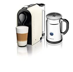 Nespresso U C50 Espresso Maker with Aeroccino Milk Frother, Pure Cream made by Nespresso
