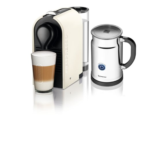 Nespresso U C50 Espresso Maker with Aeroccino Milk Frother, Pure Cream