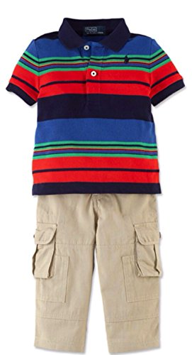 Polo Ralph Lauren Baby Boys 2-Piece Shirt & Cargo Pants (12 Months) front-1043322