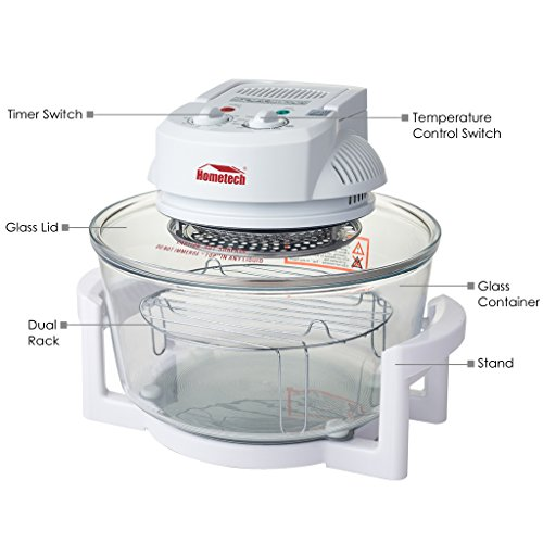 Countertop Halogen Convection Oven : ... 12 Quart Halogen Tabletop Countertop Convection Oven w/ Extender Ring