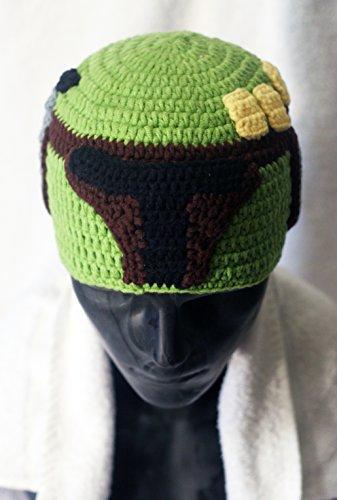 Milk protein cotton yarn handmade baby Boba Fett hat - fits 1-3 year old toddler
