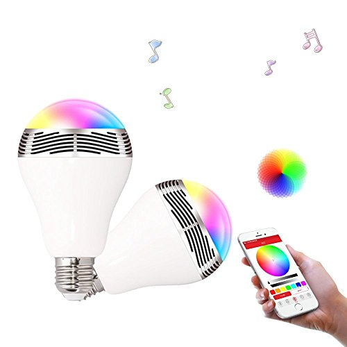 Ewin® スピーカー内蔵 LED電球 Bluetooth搭載 音楽再生 調光調色 APPコントロール機能付き パーティーLEDライト(1年安心保証付き)