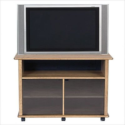 Cheap Bundle-42 Hardwood 44″ TV Stand in Oak (2 Pieces) (B006RJXEVK)