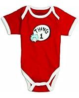 Bumkins Unisex-baby Newborn Dr. Seuss Thing 1 Short Sleeve Bodysuit