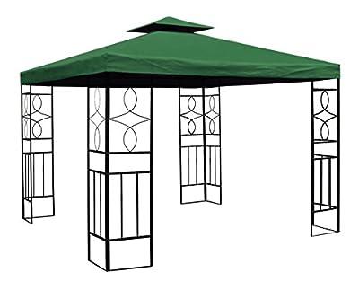 WASSERDICHTER Pavillon 3x3m Grün ROMANTIKA Metall inkl. Dach Festzelt wasserfest Partyzelt von Trendkontor auf Gartenmöbel von Du und Dein Garten