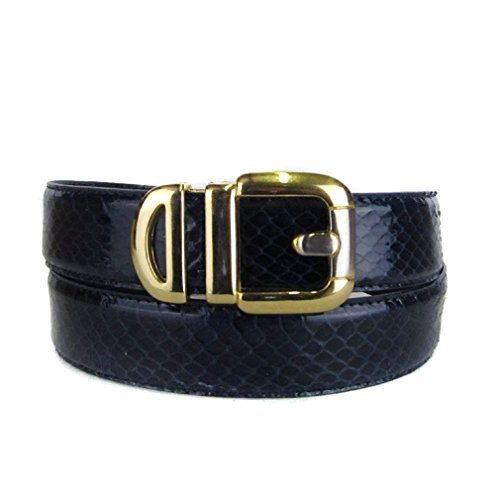 BLTBY-SNK-39-18 - Navy - Boys Snake Skin Bonded Leather Belt